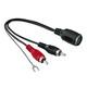 Hama Audio Adapater 2 Cinch Stecker/externe Masseklemme