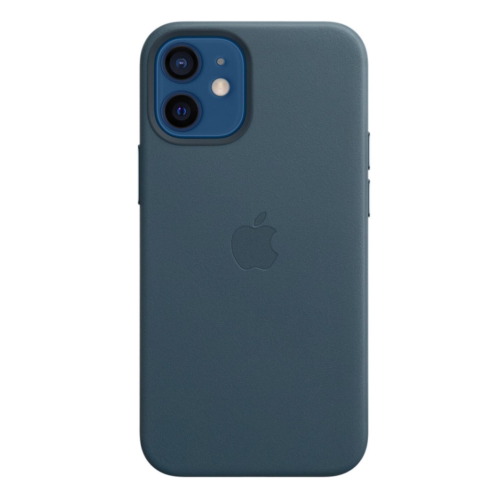 Apple iPhone 12 mini Leder Case mit MagSafe baltischblau