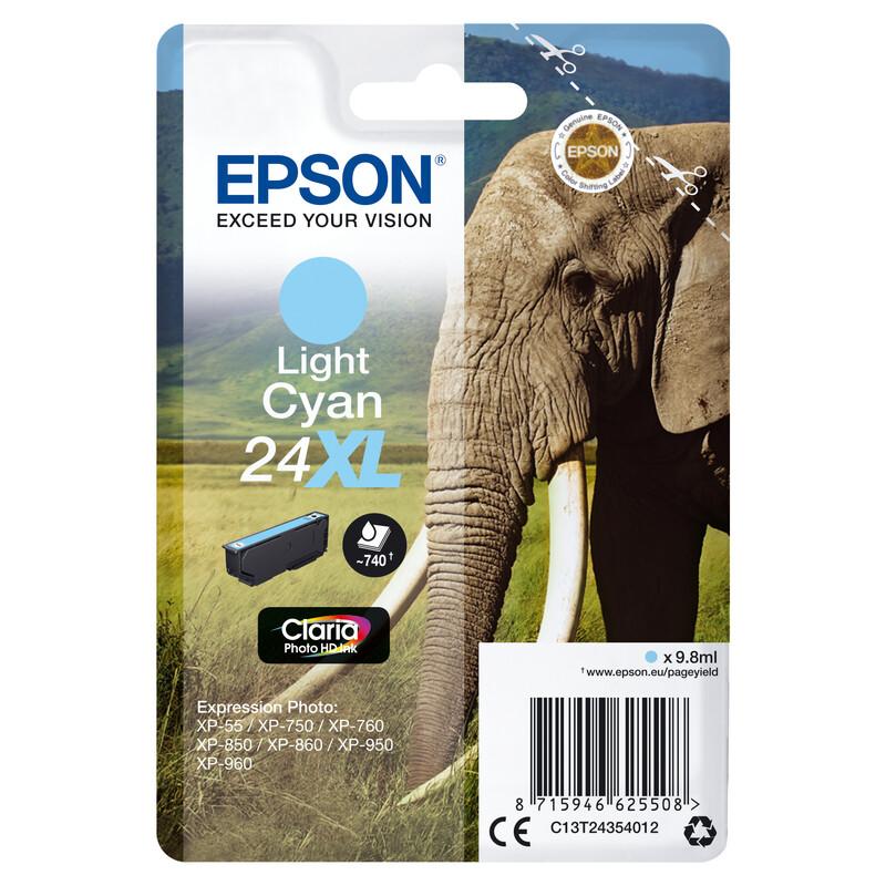 Epson 24XL T2435 Tinte Light Cyan 9,8ml