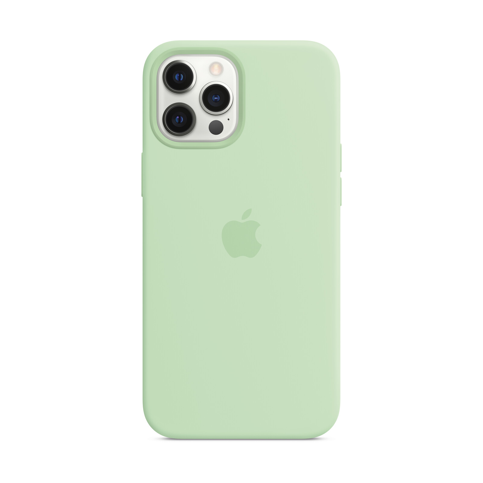 Apple iPhone 12 Pro Max Silikon Case mit MagSafe pistazie