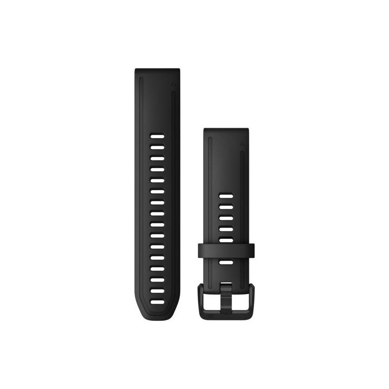 Garmin Quickfit Band 20mm Silikon schwarz schwarz