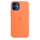 Apple iPhone 12 mini Silikon Case mit MagSafe kumquat