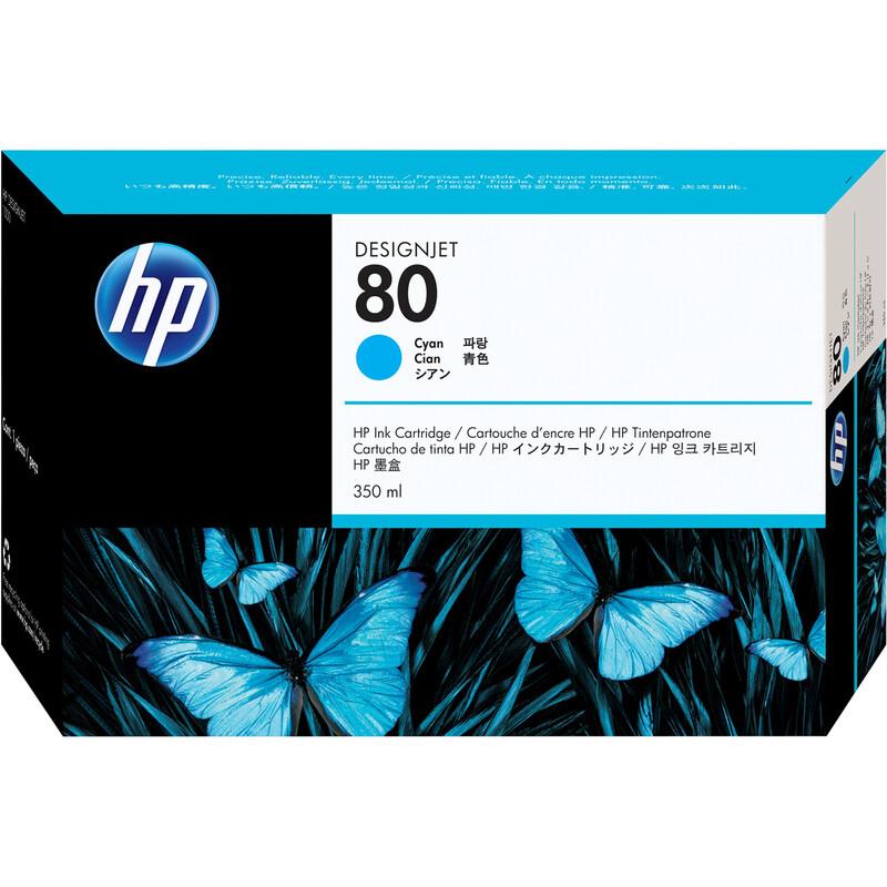 HP 80 C4846A Tinte cyan 350ml