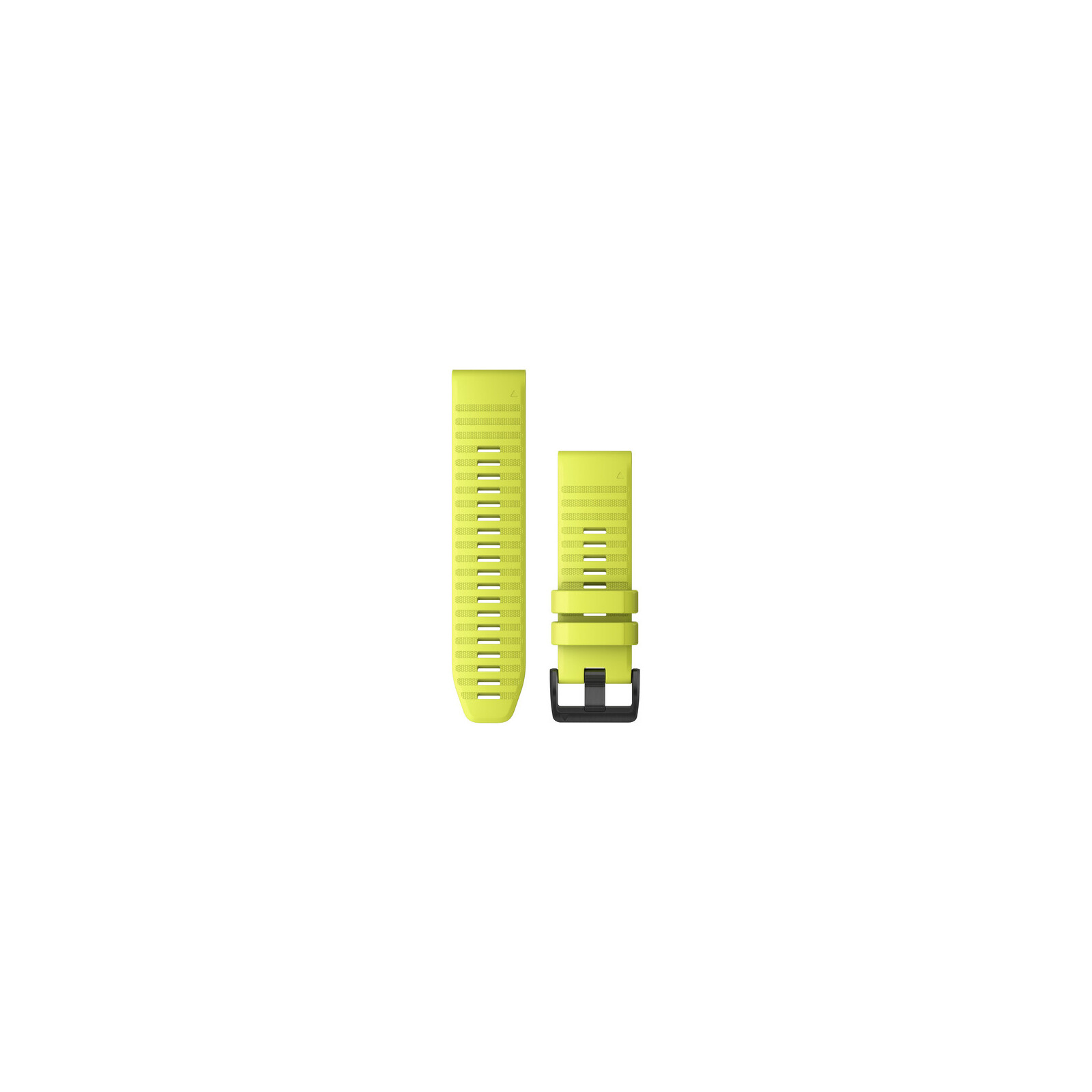 Garmin Quickfit Band 26mm Silikon leuchtgelb schwarz