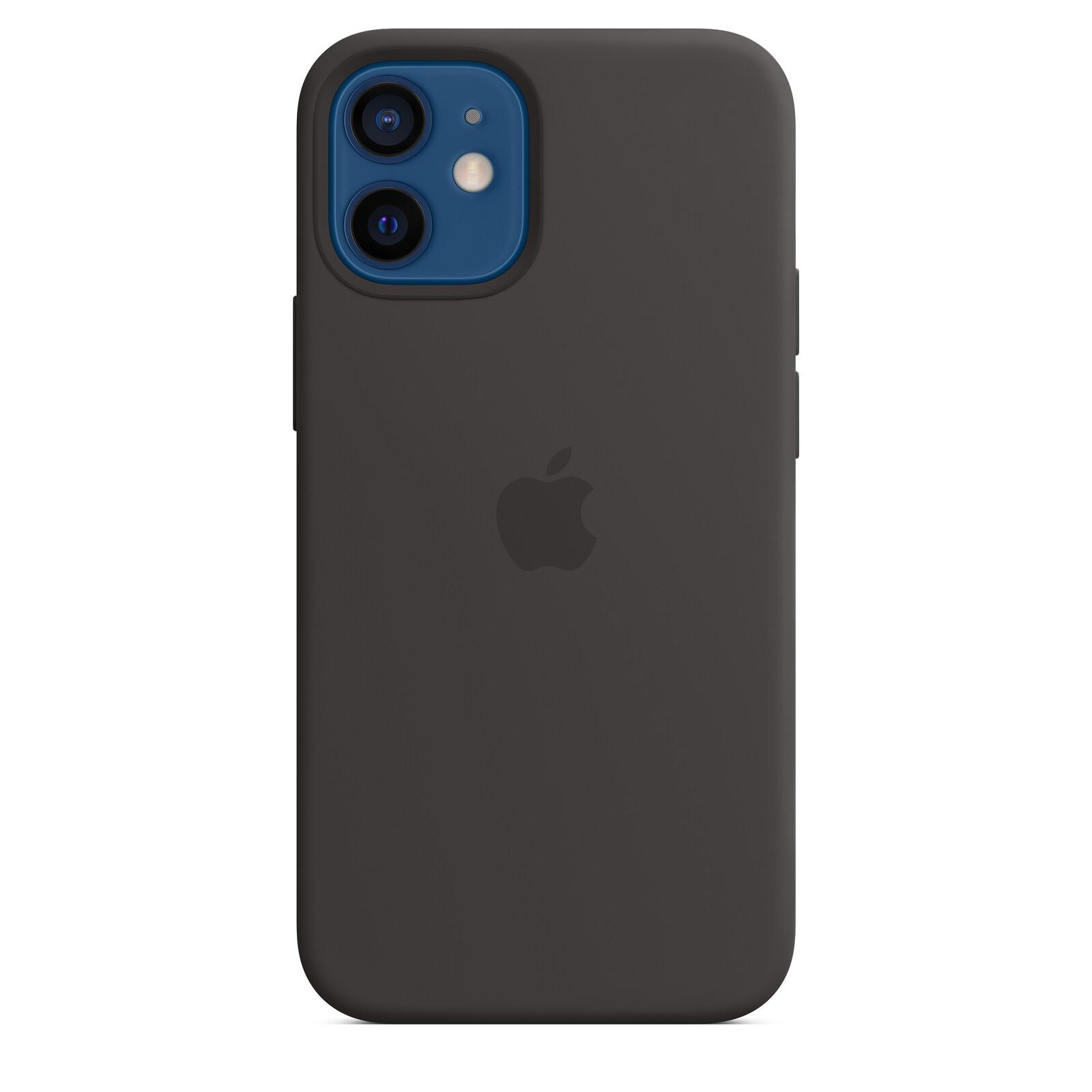 Apple iPhone 12 mini Silikon Case mit MagSafe schwarz