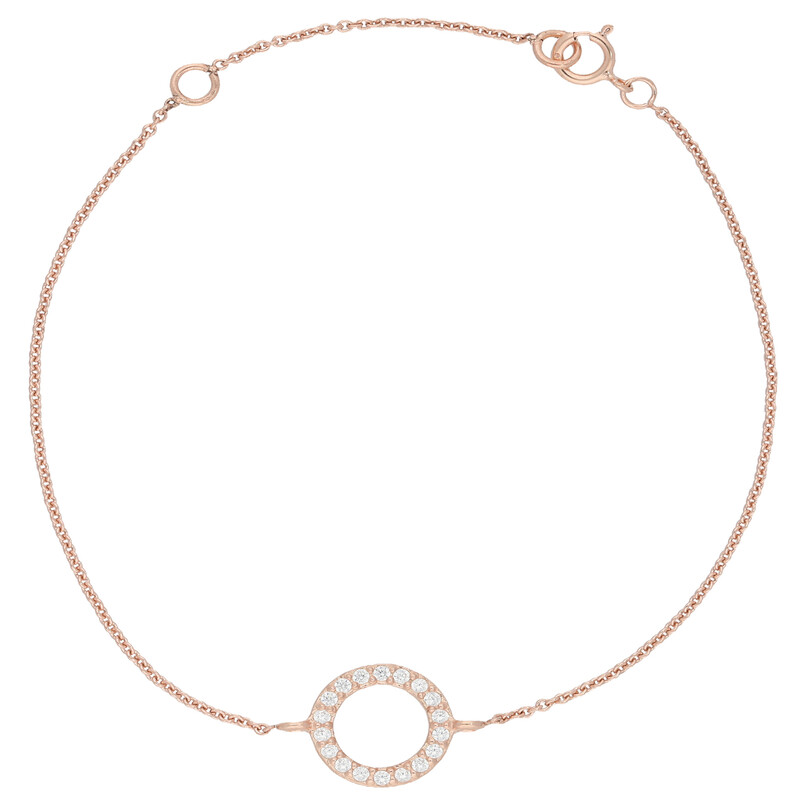 Armband Circle rosevergoldet echt Silber