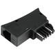Hama 44412 Adapter,TST-Stecker, 6P4C