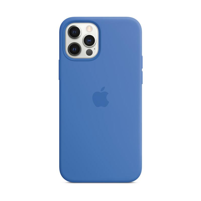 Apple iPhone 12/ 12 Pro Silikon Case mit MagSafe capriblau