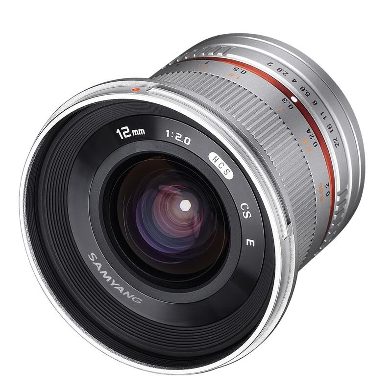 Samyang MF 12/2,0 Canon M silber