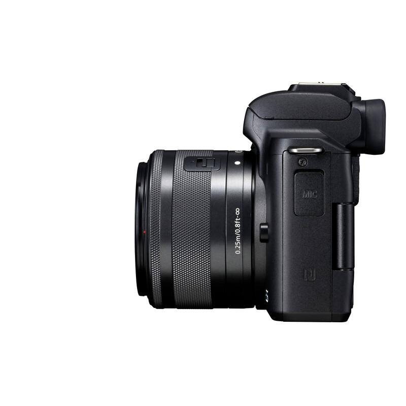Canon PARS SIP EOS M50 + EF-M 15-45/3,5-6,3 IS STM Schwarz