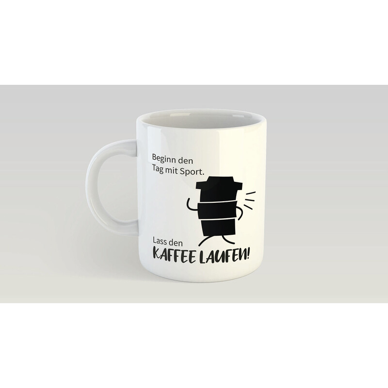 "Panorama Tasse ""Sport Kaffee"""
