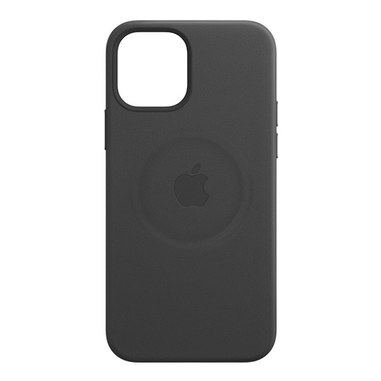 Apple iPhone 12/12 Pro Max Leder Case mit MagSafe schwarz