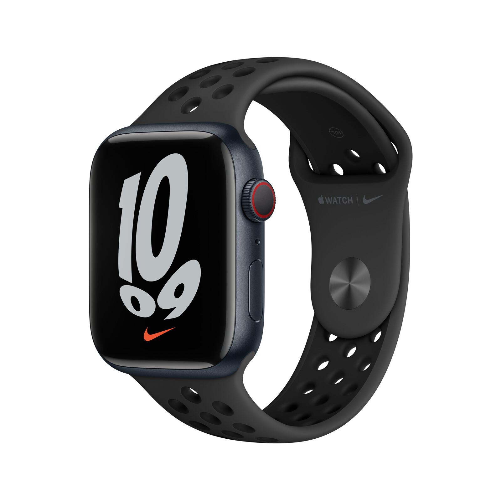 Apple Watch Nike S7 Cellular Alu mitternacht 45mm anthrazit