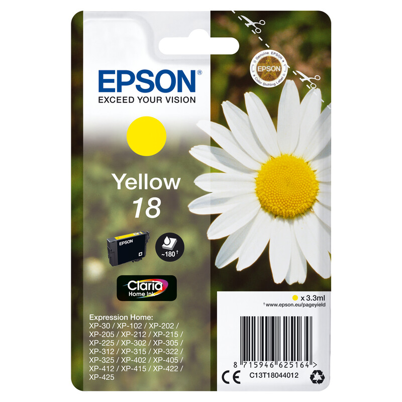 Epson 18 T1804 Tinte Yellow 3,3ml