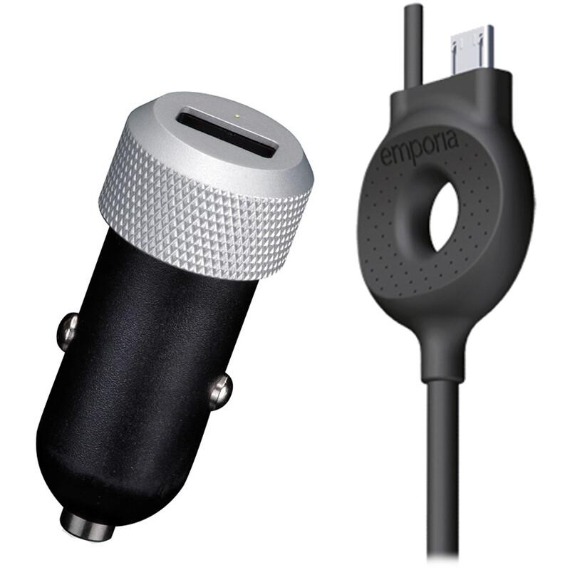 Emporia KFZ Ladegerät micro USB mit Führungsschiene