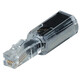 Hama 44844 Anti-Twist-Adapter, Transparent/Schwarz