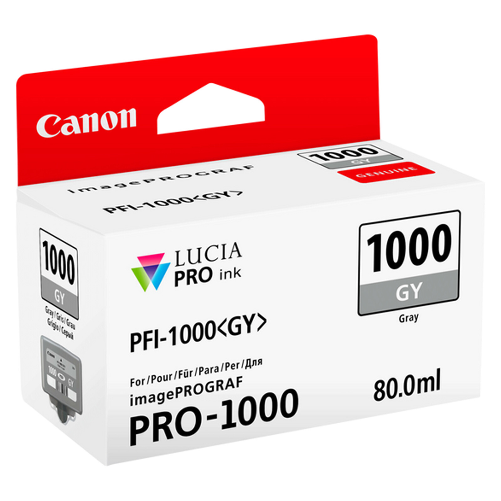 Canon PFI1000GY grey imagePrograf Pro 1000