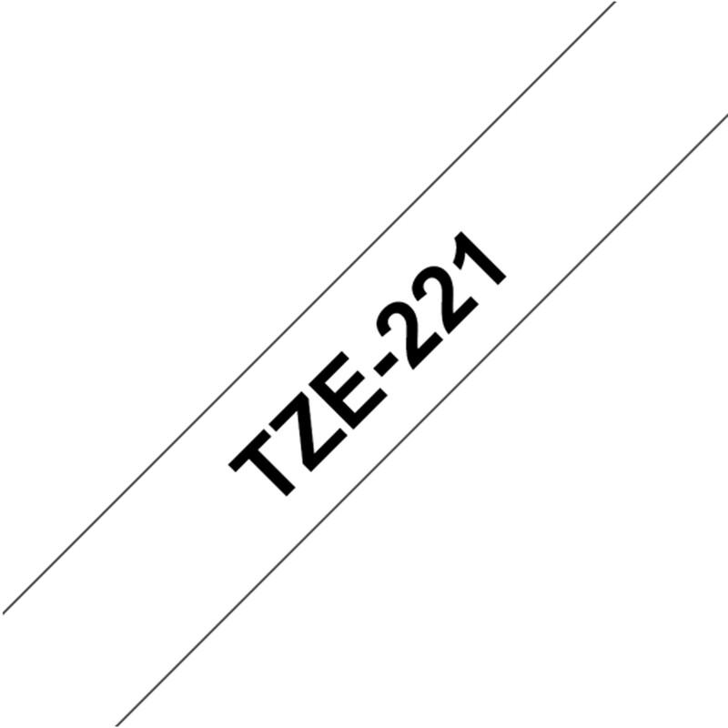 Brother TZE-221 Band weiß/schwarz 9mm