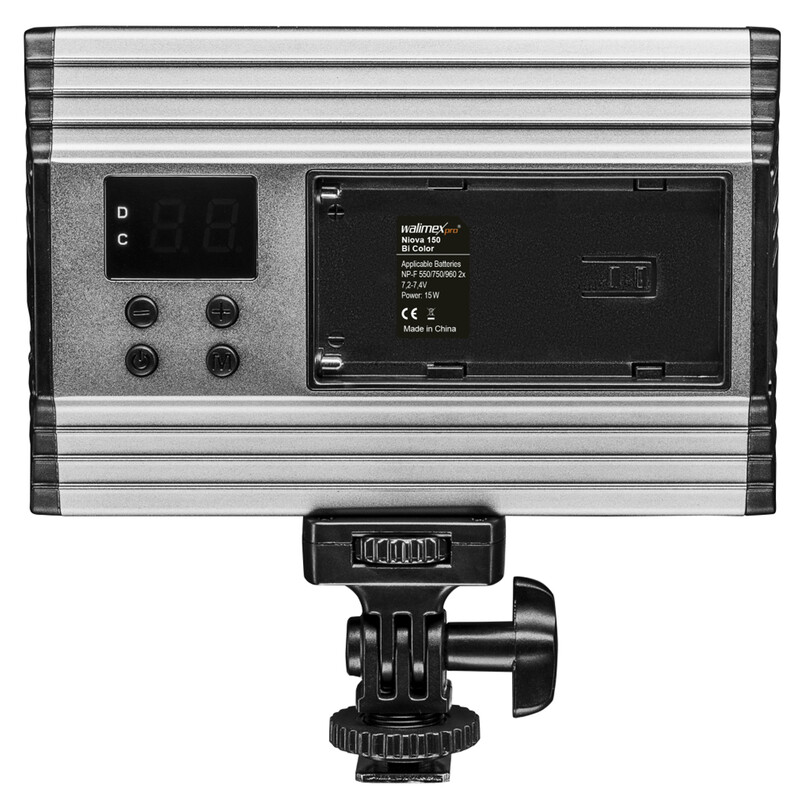 Walimex pro On Camera LED Niova 150 Bi Color