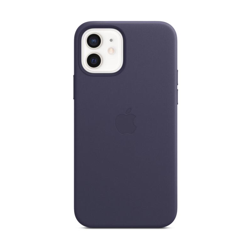 Apple iPhone 12/12 P Leder Case mit MagSafe dunkelviolett