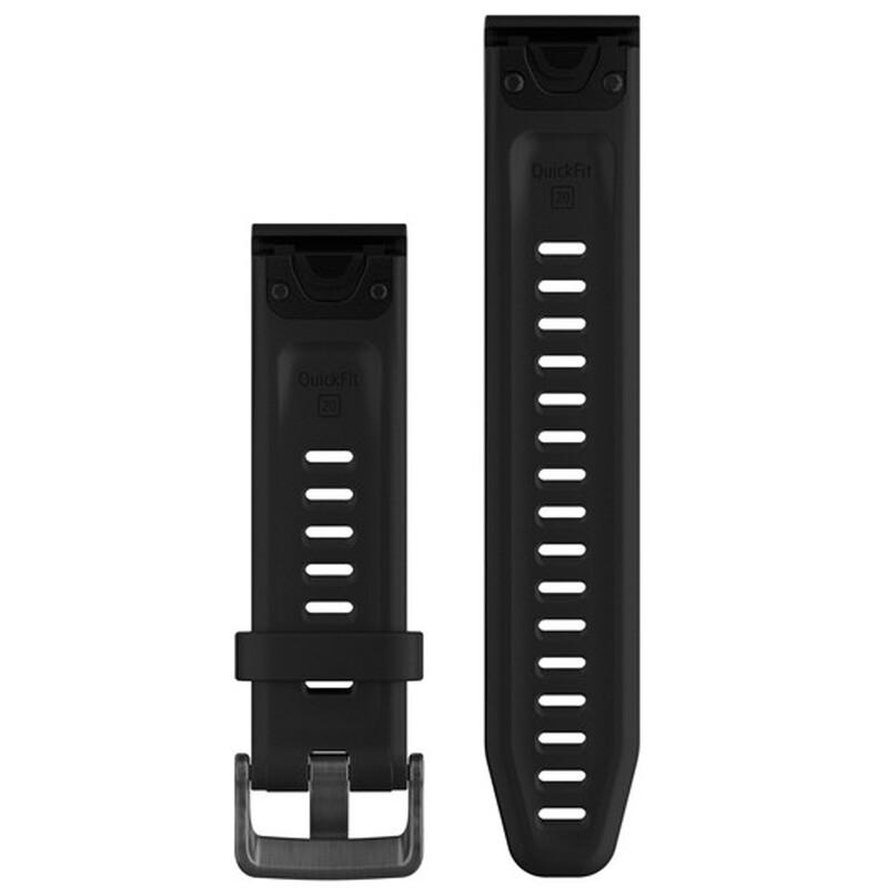 Garmin QuickFit 20 Uhrenband Silkon S/M Schwarz