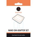 Axxtra Sim Karten Adapterset: 1 x NanoSIM auf MicroSim