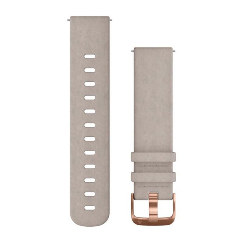 Garmin Uhrenarmband Vivomove 20mm Leder grau