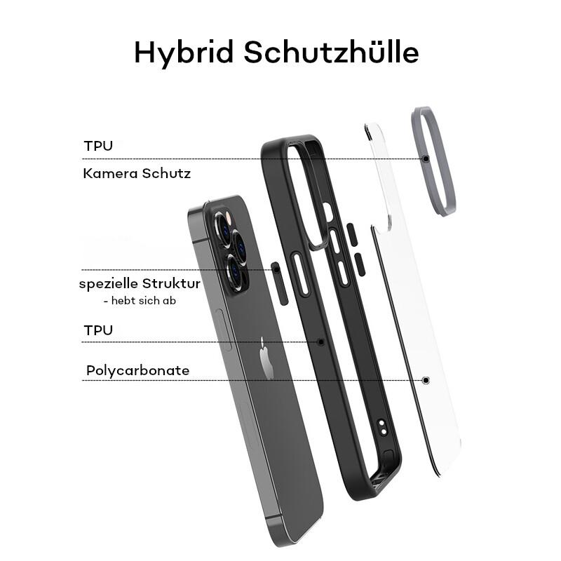Felixx Back Hybride Apple iPhone 13 mini schwarz/clear