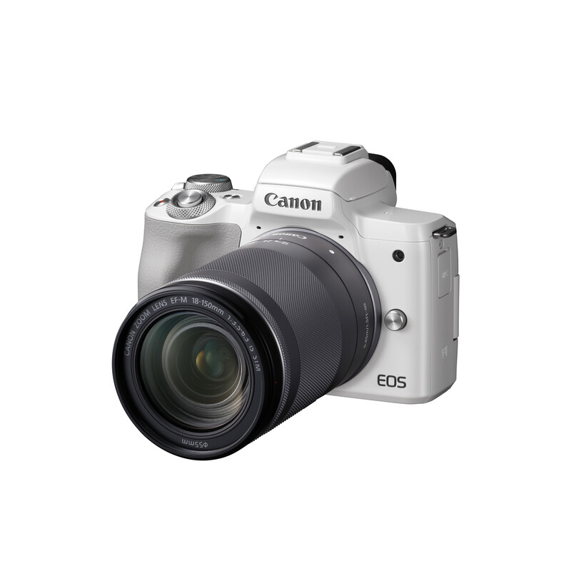 Canon EOS M50 + EF-M 18-150/3,5-6,3 IS STM Weiß