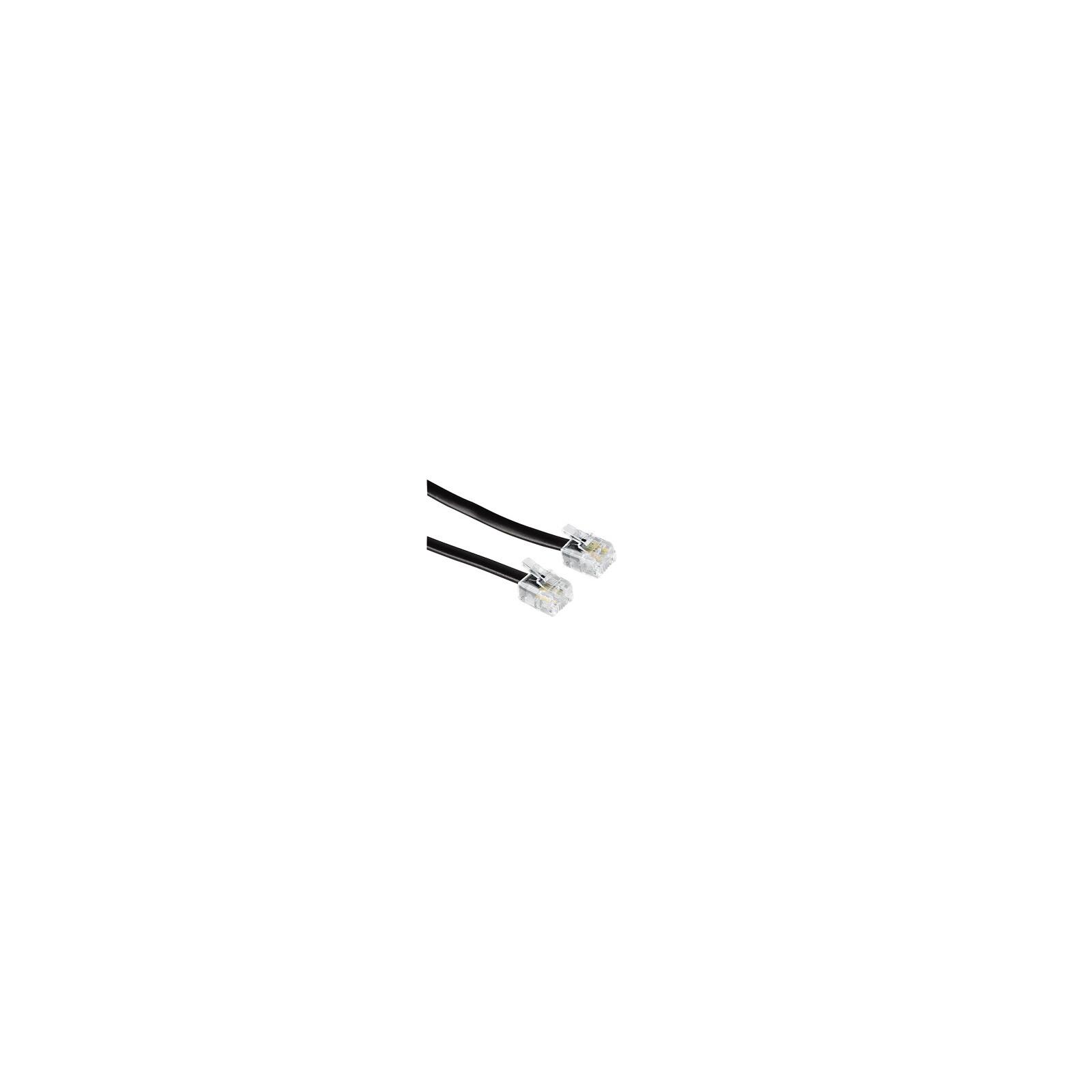 Hama 44930 Modularkabel, Stecker 6p4c - Stecker 6p4c, 6 m, S