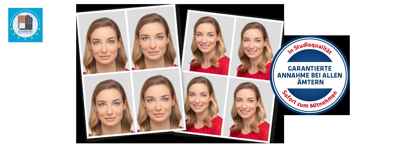 Passfotos von Hartlauer mit dem Hinweis der garantierten Annahme bei allen Ämtern