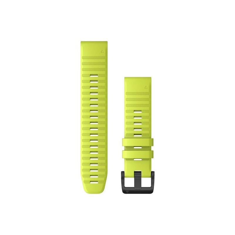Garmin Quickfit Band 22mm Silikon leuchtgelb schwarz