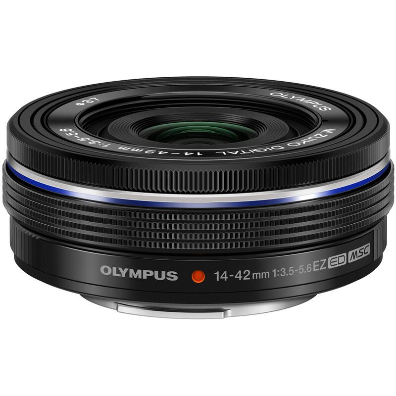 Olympus M.ZUIKO 14-42/3,5-5,6EZ Schwarz + UV Filter