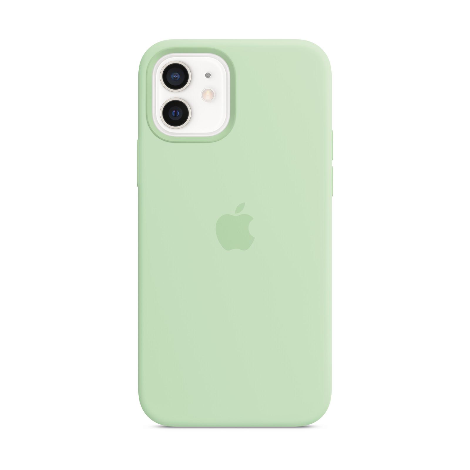 Apple iPhone 12/ 12 Pro Silikon Case mit MagSafe pistazie