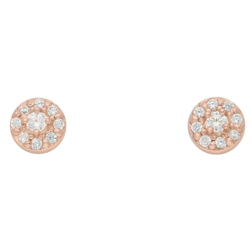 Ohrstecker Dots rosevergoldet echt Silber