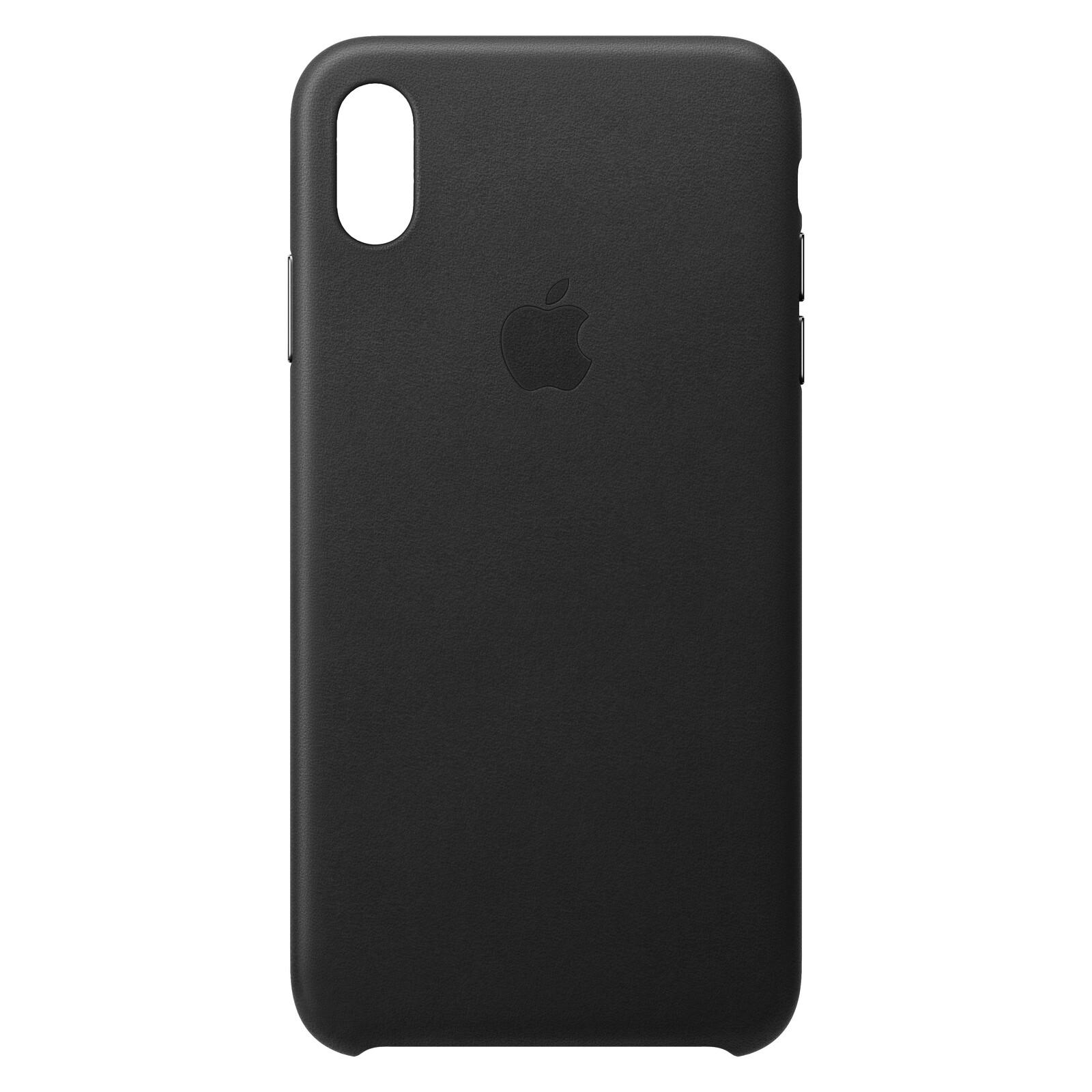 Apple Original Back Cover Leder iPhone XS Max Schwarz