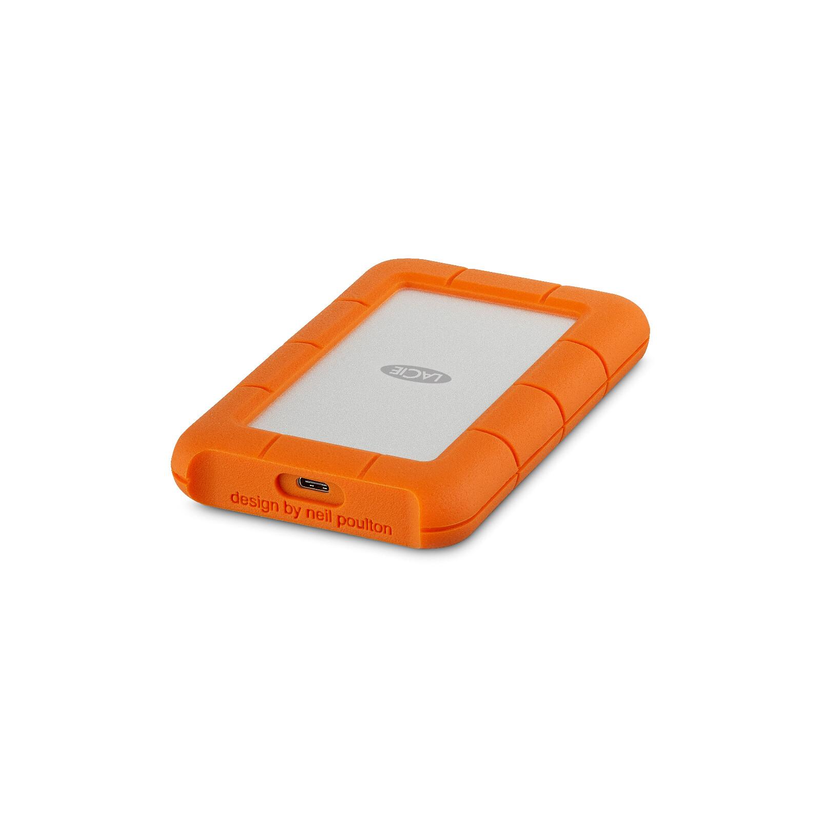 """LaCie Rugged USB-C 2TB 2.5"""", Rescue 2Y"""