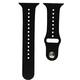 Mika Uhrenarmband Apple 42/44mm Silikon schwarz/schwarz