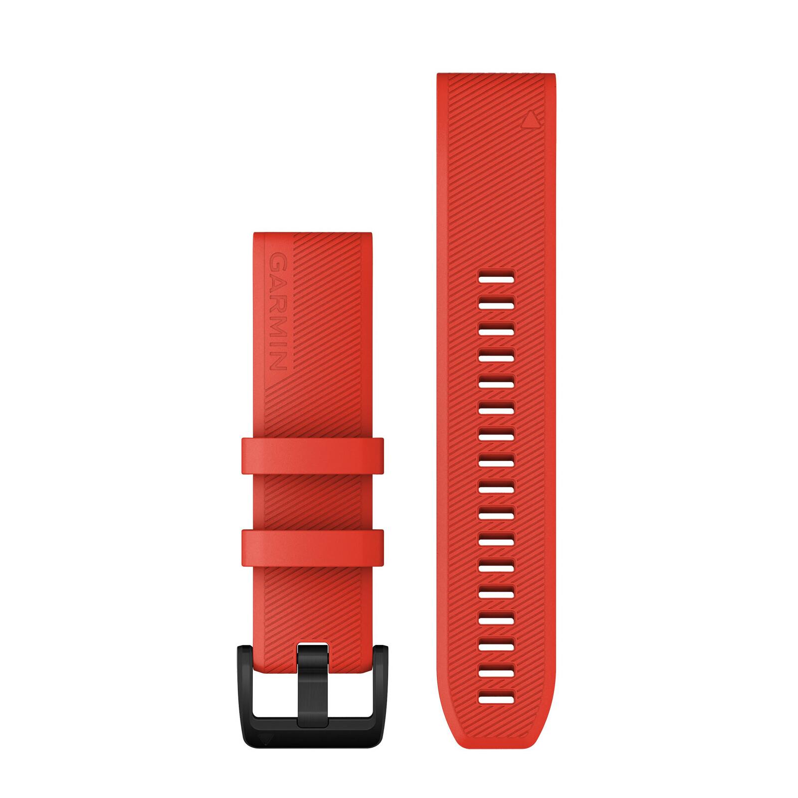 Garmin Quickfit Band 22mm Silikon rot meliert schwarz