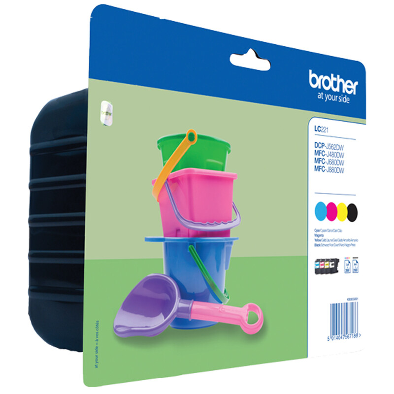 Brother LC221VALBPDR Ink Set BK/C/M/Y