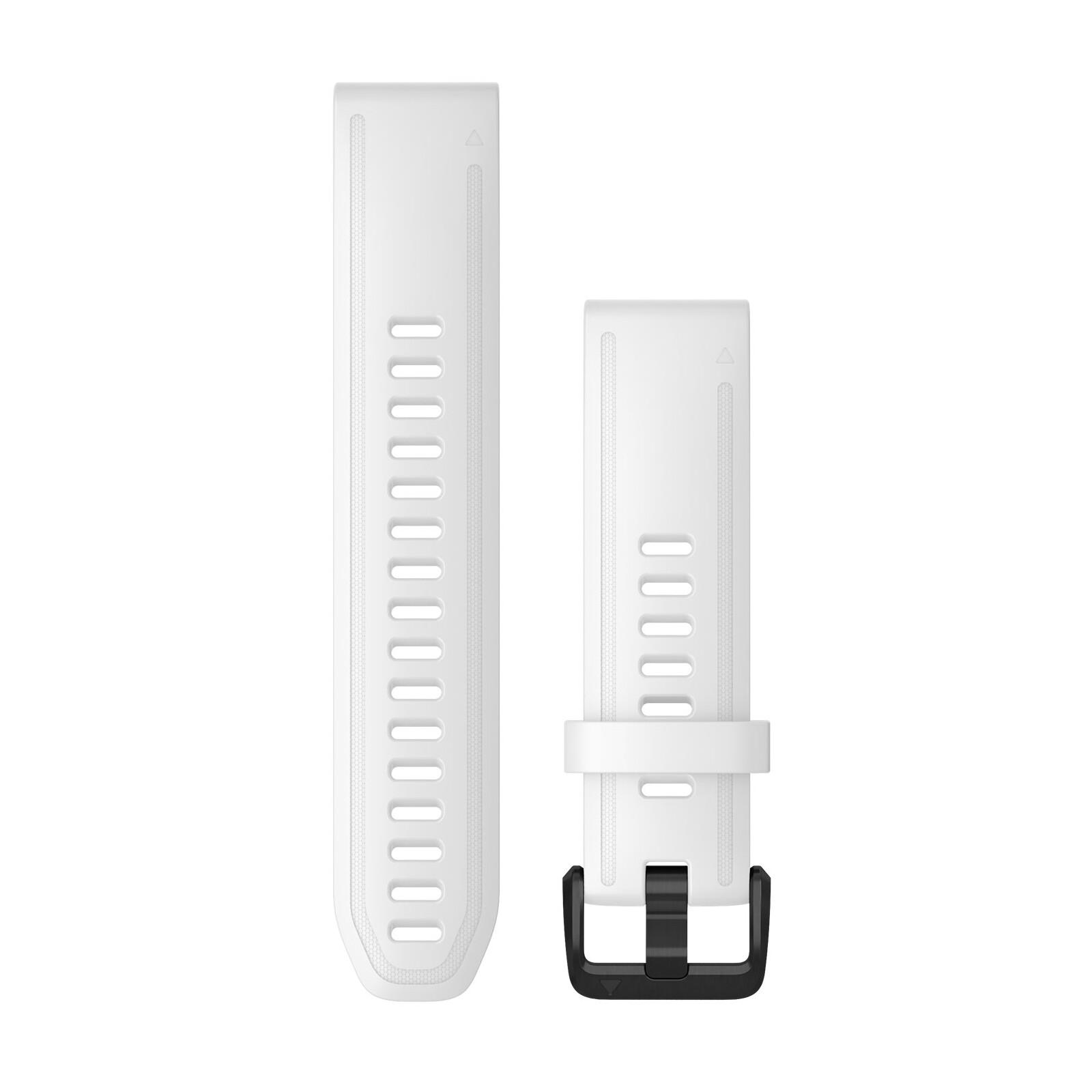 Garmin Quickfit Band 20mm S/M Silikon weiß schwarz