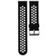 Mika Uhrenarmband Uni 22mm Silikon schwarz/weiß