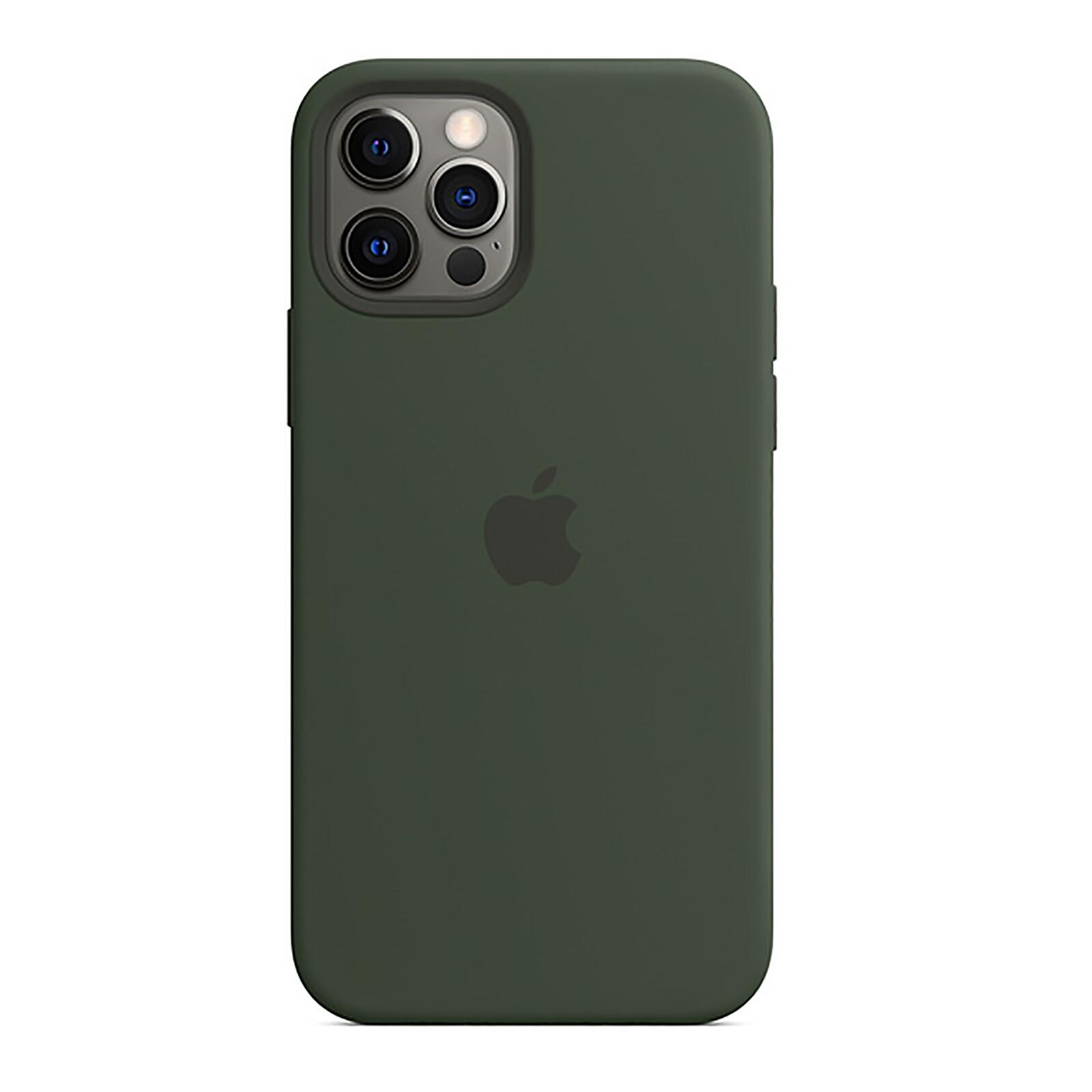Apple iPhone 12/12 Pro Silikon Case mit MagSafe zyperngrün