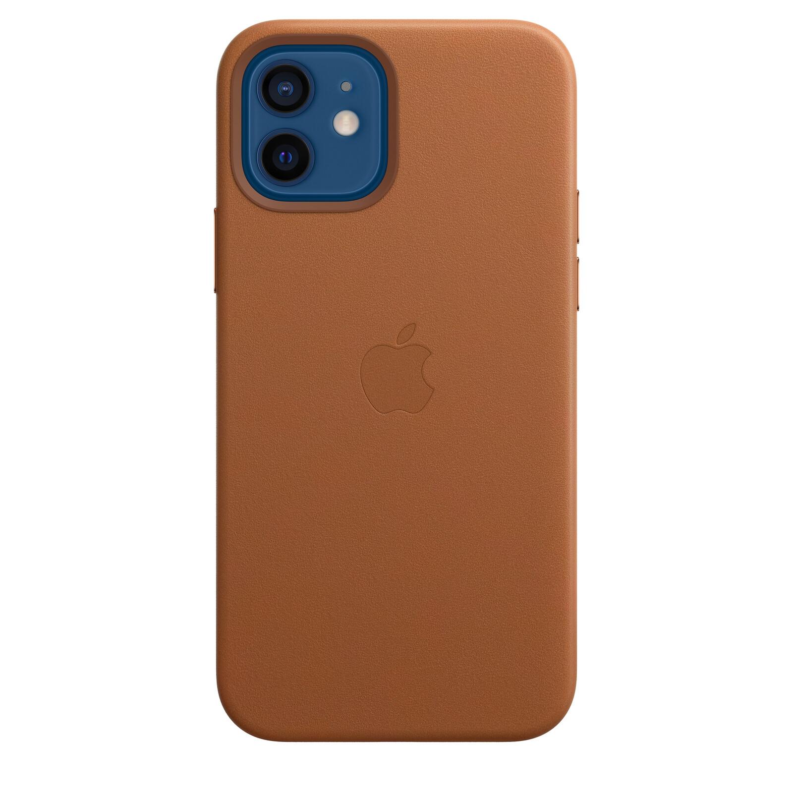 Apple iPhone 12/12 Pro Leder Case mit MagSafe sattelbraun