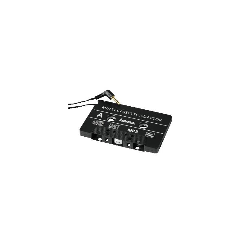 Hama 89292 MP3-/CD-Kassetten-Adapter Kfz, Schwarz