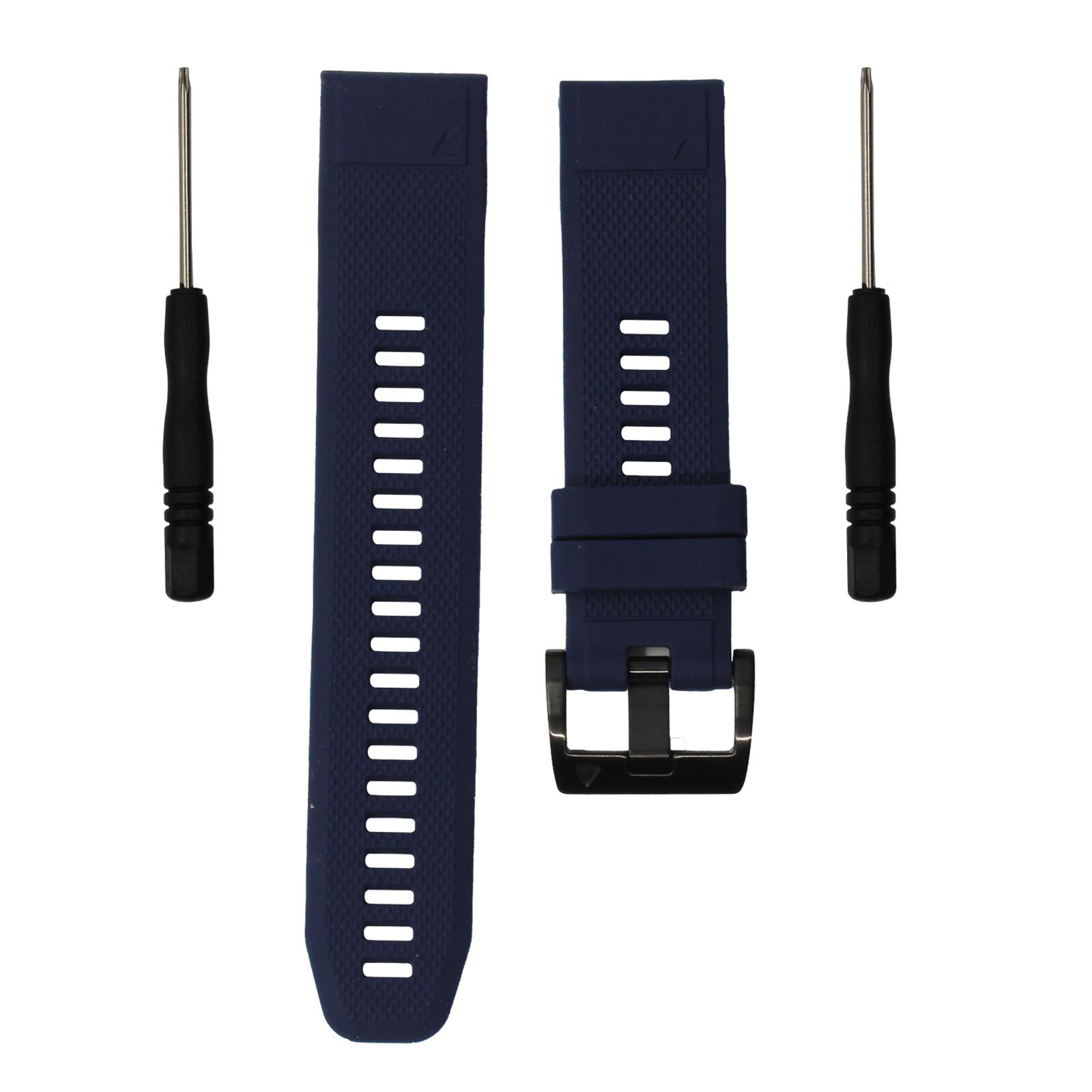 Mika Uhrenarmband Garmin Quick 22mm Silikon dunkelblau
