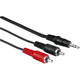 Hama 43333 Audio-Kabel 2 Cinch-Stecker - 3,5-mm-Klinken-Stec