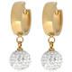 Edelstahlcreole goldfarben Kugel Kristalle