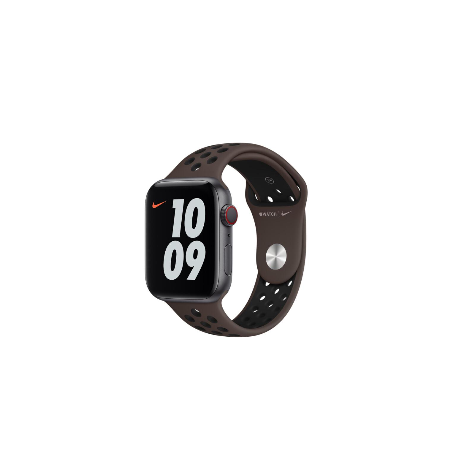Apple Watch 44mm Nike Sportarmband ironstone/schwarz