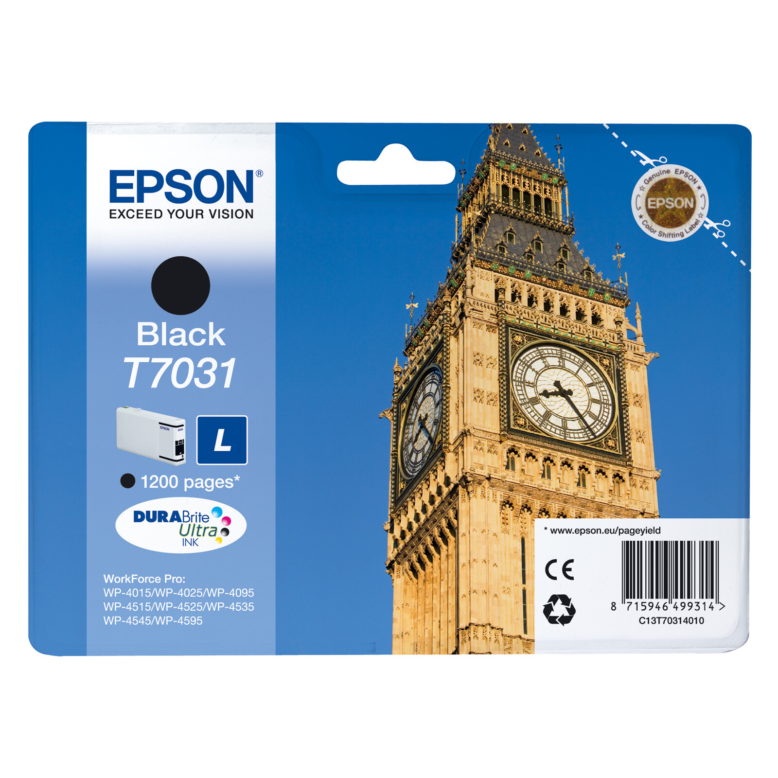 Epson T7031L Tinte Black 24ml